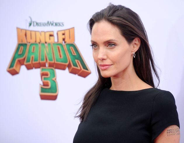 Actress Angelina Jolie arrives at the premiere of 20th Century Fox's 'Kung Fu Panda 3' at TCL Chinese...