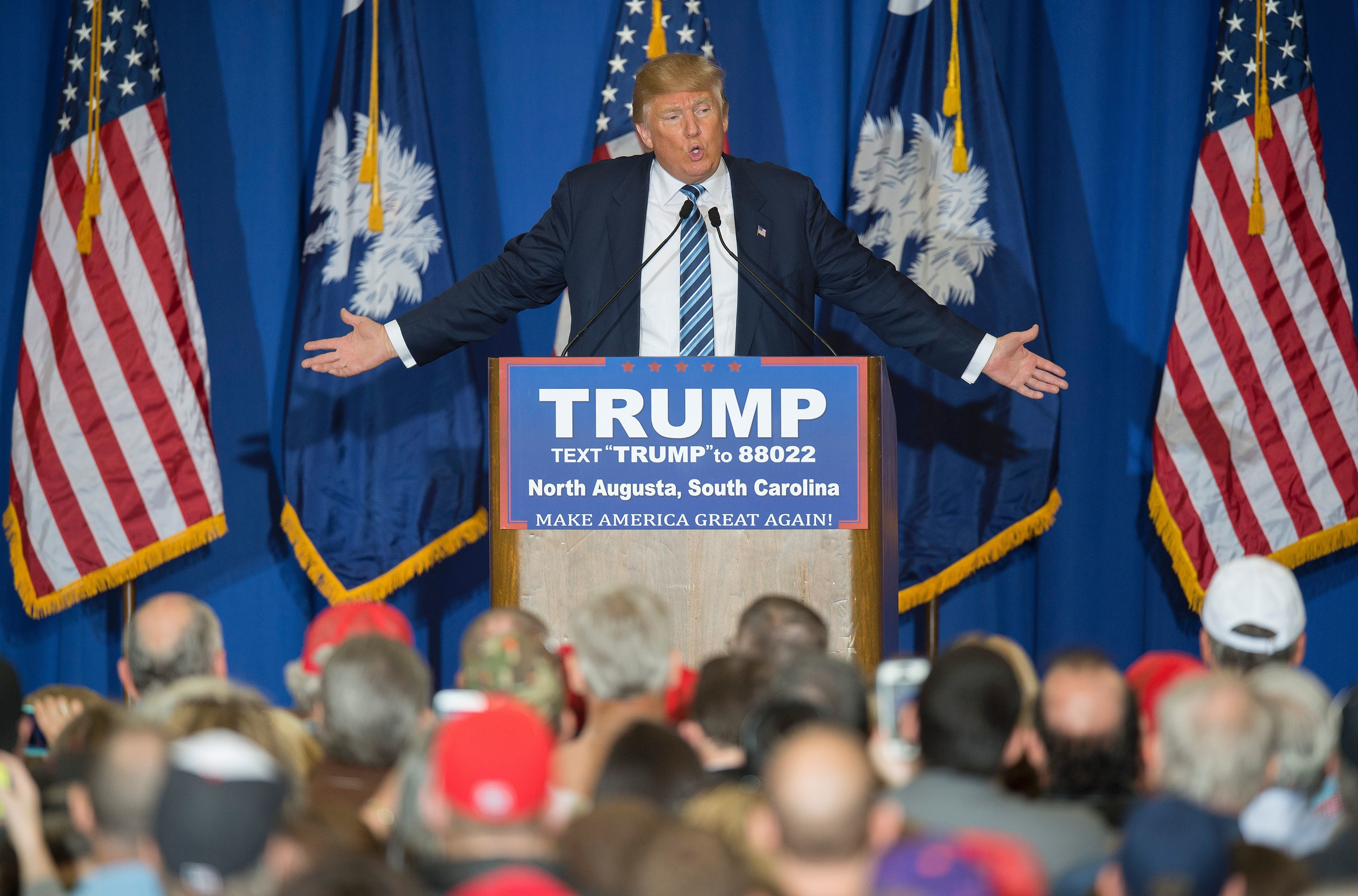 Donald Trump remains the GOP front-runner in South Carolina.