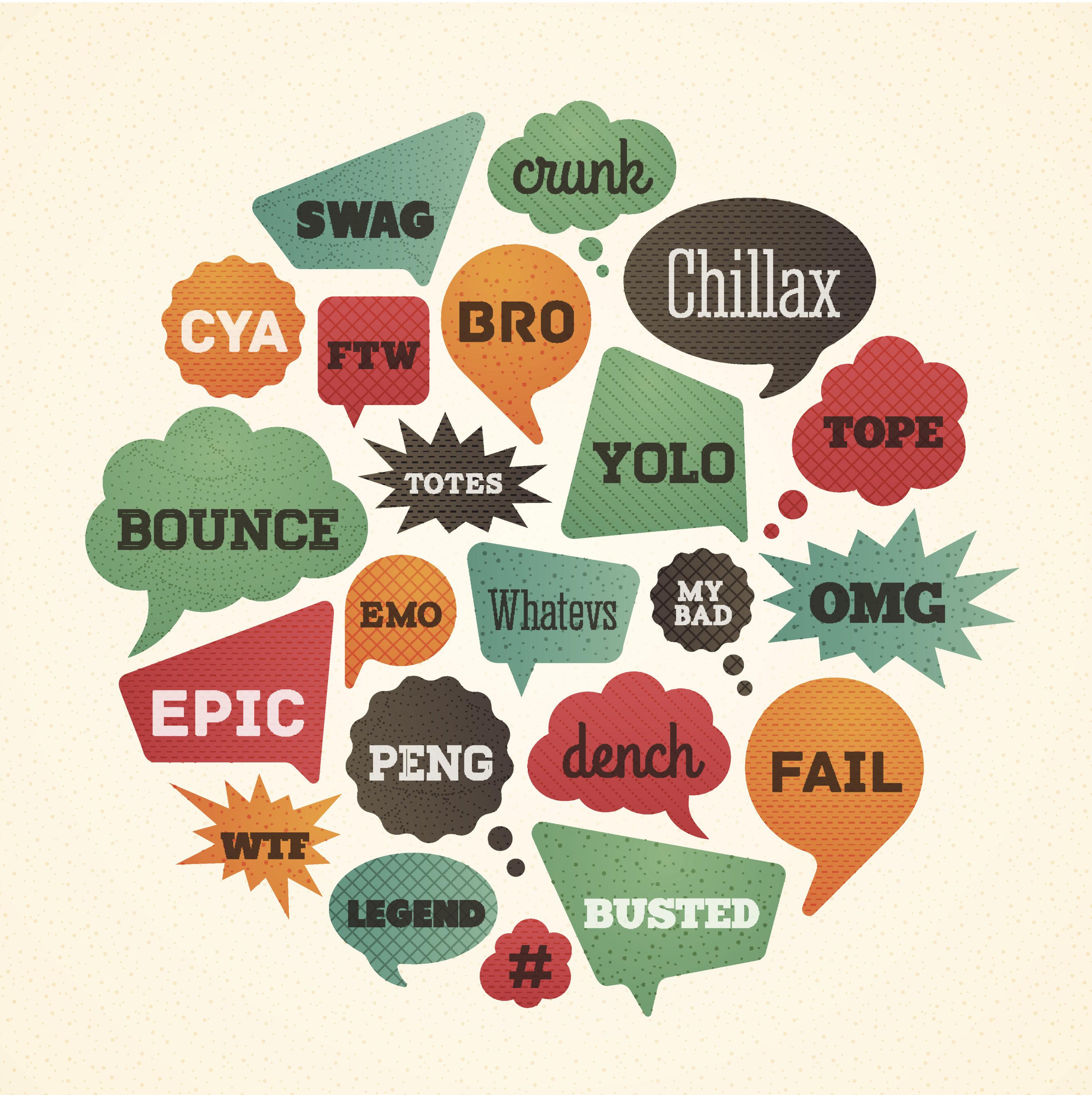 List of teenage slang words