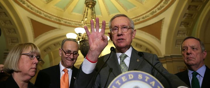 Senate Democratic leaders say Mitch McConnell will be forced to back down and hold hearings for a new Supreme Court justice.