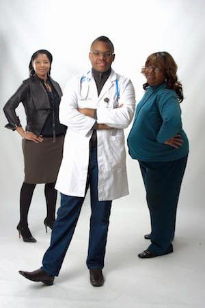 An image from Facebook showsMalachi A. Love-Robinson and the staff of hisNew Birth New Life Medical Center and Ur