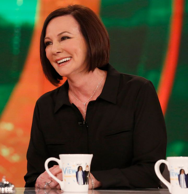 """Marcia Clark visits """"The View"""" in February 2016."""