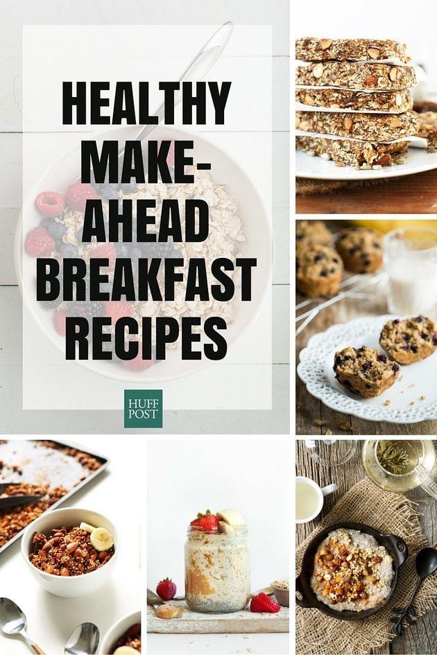 The Healthy Make-Ahead Breakfast Recipes You