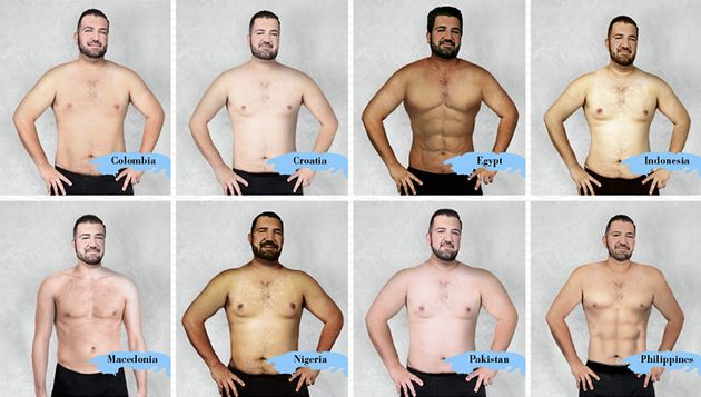「理想的な」男性の体型は、世界19カ国でこんなに違った