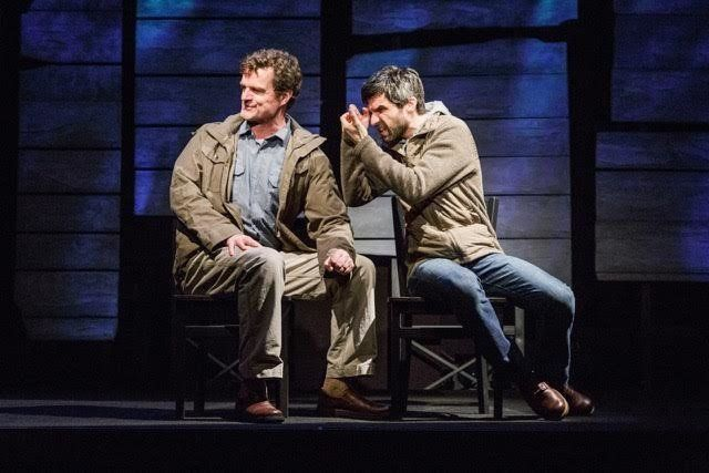 """Michael Cumpsty and Michael Crane in """"The Body of an American."""""""