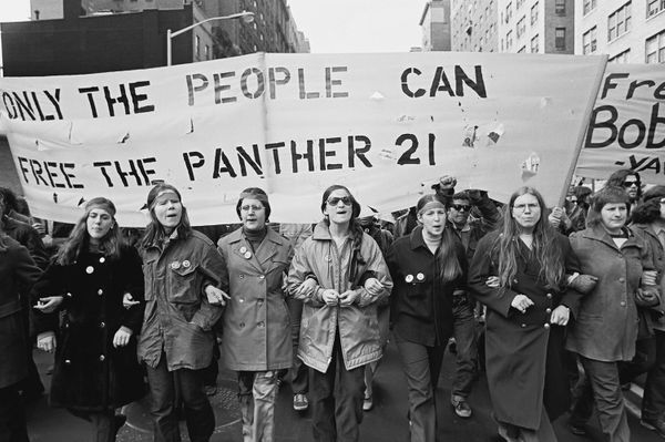 "On April 2, 1969, <a href=""http://www.hartford-hwp.com/archives/45a/088.html"" target=""_blank"">21 leading Black Panther member"
