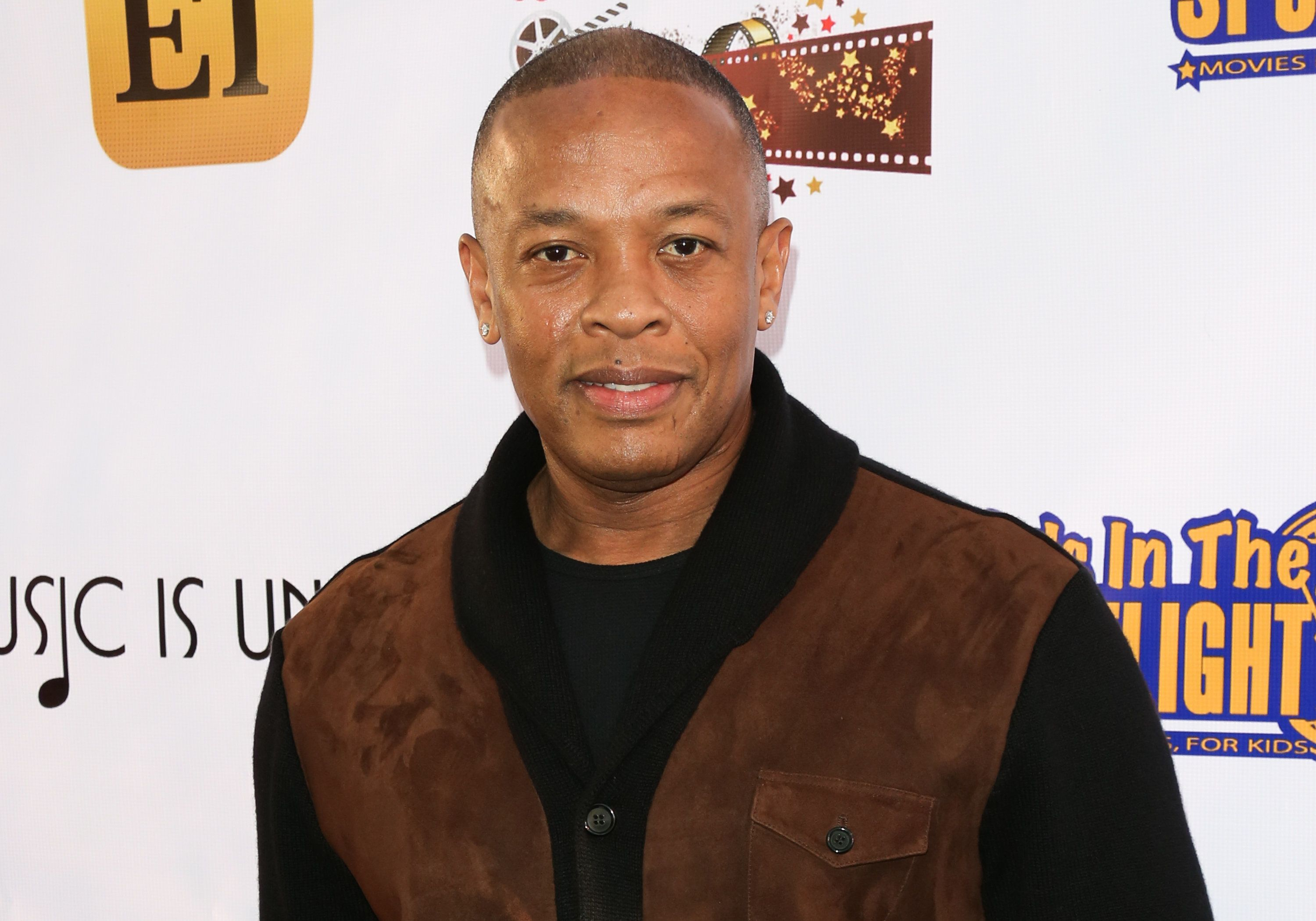 LOS ANGELES, CA - NOVEMBER 07:  Rapper / Producer Dr. Dre attends the Kids In The Spotlight's Movies By Kids, For Kids Film Awards at Fox Studios on November 7, 2015 in Los Angeles, California.  (Photo by Paul Archuleta/FilmMagic)