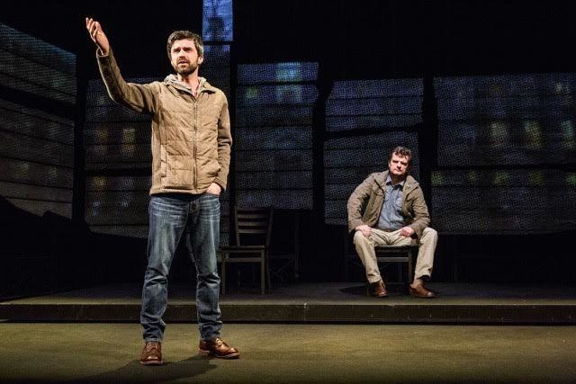 """""""American"""" dramatizes the real-life friendship between playwright Dan O'Brien (Crane) and photojournalist Paul Watson (Cumpst"""