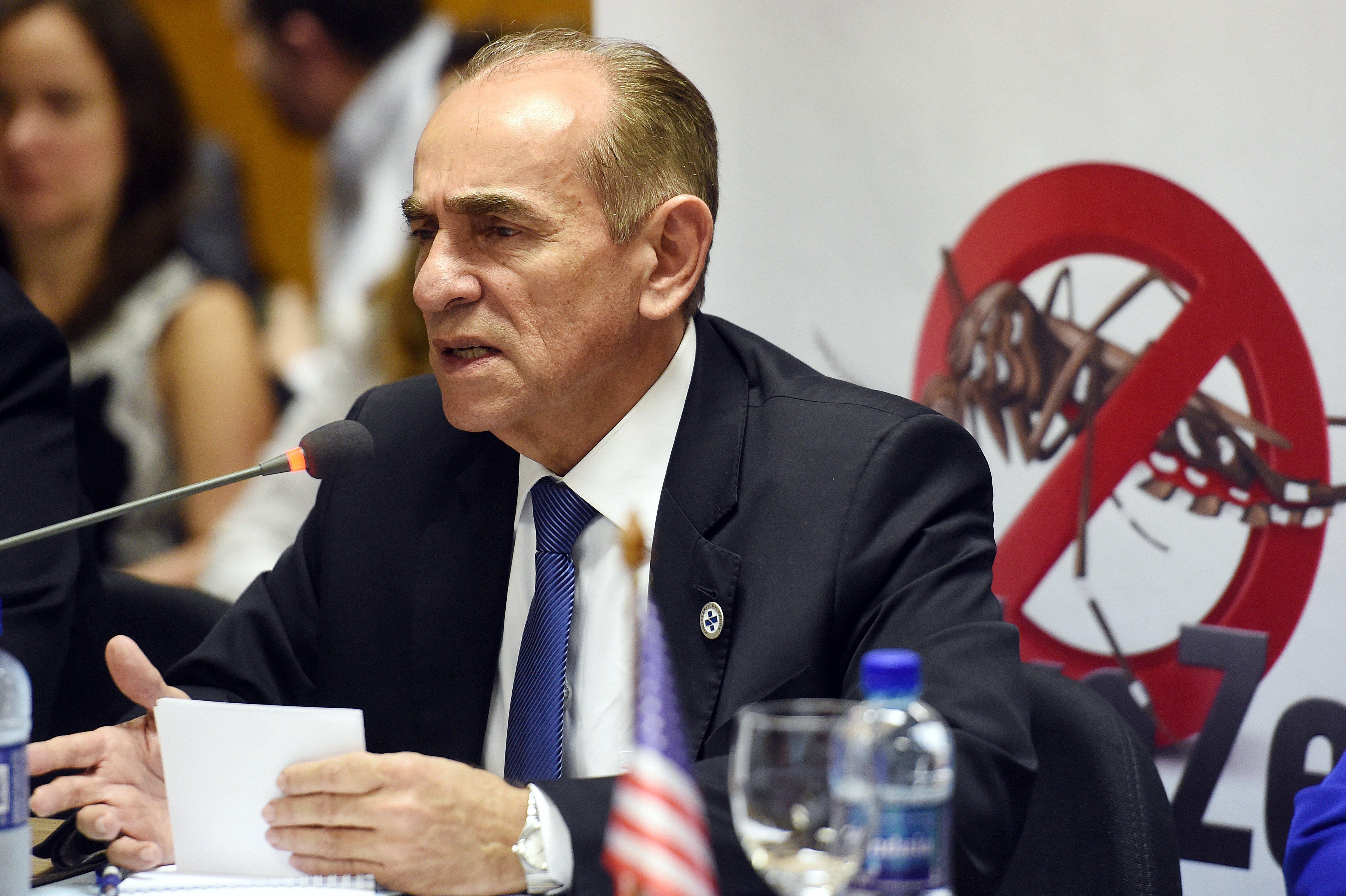 Brazilian Minister of Health Marcelo Castro speaks during a Brazil-U.S. meeting Thursday in Brasilia for a joint response against the Zika virus outbreak.