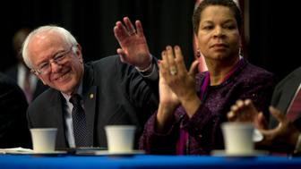 COLUMBIA, SC - Sen. Bernie Sanders (I-VT) attends the Faith Leaders Prayer Breakfast at Allen University in Columbia, SC February 16, 2016. (Photo by Aaron P. Bernstein for The Washington Post via Getty Images)