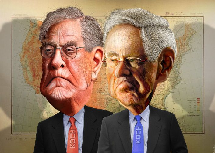 Billionaires Charles and David Koch, prominent donors to conservative causes, are now looking to put their money behind an ad