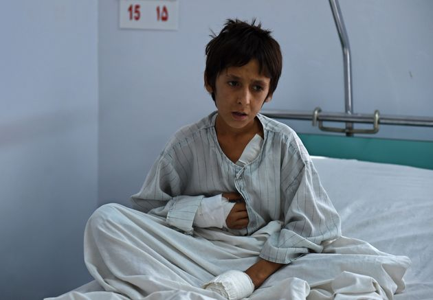 This Afghan boy was among those wounded in theU.S. airstrikes on the Doctors Without Borders hospital...