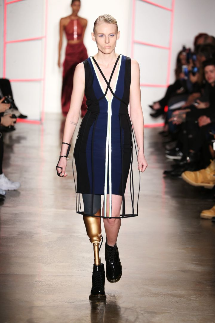 Lauren Wasser making her NYC Fashion Week debut.
