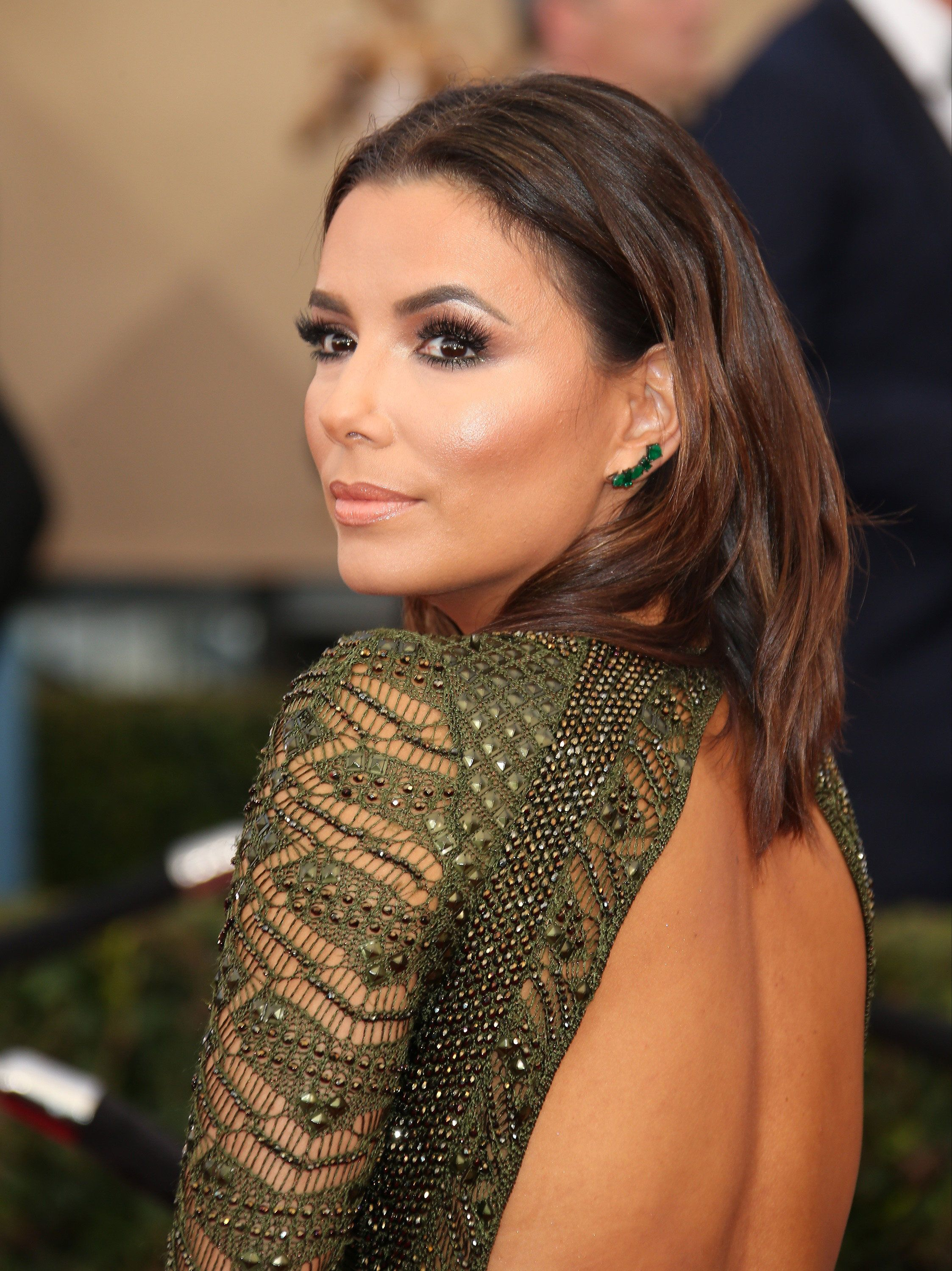 LOS ANGELES, CA - JANUARY 30: Actress Eva Longoria attends the 22nd Annual Screen Actors Guild Awards at The Shrine Auditorium on January 30, 2016 in Los Angeles, California. (Photo by Dan MacMedan/WireImage)