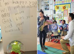 Adorable 1st Graders Made Their Teacher's Proposal One For The Books