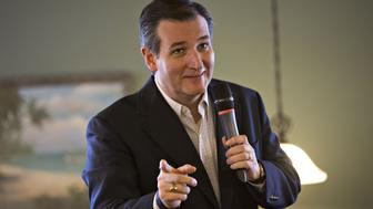 Senator Ted Cruz, a Republican from Texas and 2016 presidential candidate, speaks during a campaign stop at Seneca Family Restaurant in Seneca, South Carolina, U.S., on Wednesday, Feb. 17, 2016. Donald Trump remains the front-runner in South Carolina, where Republican voters head to the polls on Saturday. According to a survey released Monday by Democratic pollster Public Policy Polling, Trump holds a 17-point lead over Senators Marco Rubio and Cruz, who are tied for second place. Photographer: Daniel Acker/Bloomberg via Getty Images