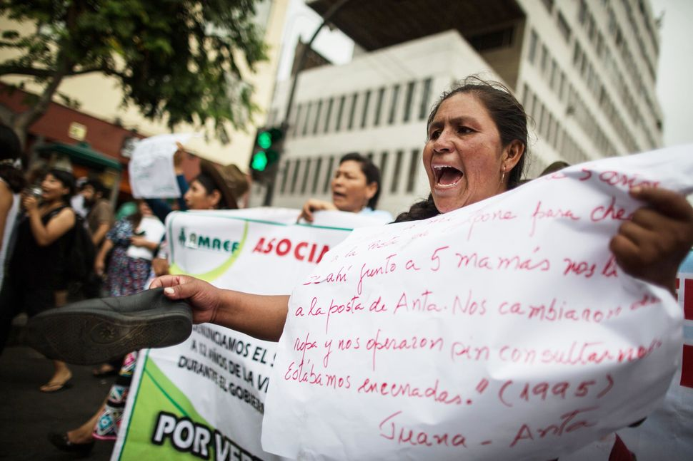 Peruvian andean women, victims of forced sterilizations during the administration of Peru's former President Alberto Fujimori