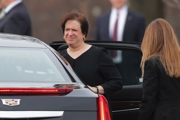 Supreme Court Associate Justice Elena Kagan arrives for the funeral of fellow Associate Justice Antonin Scalia at the t