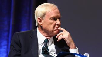 NEW YORK, NY - DECEMBER 08:  Chris Matthews speaks onstage as Robert F. Kennedy Human Rights hosts The 2015 Ripple Of Hope Awards honoring Congressman John Lewis, Apple CEO Tim Cook, Evercore Co-founder Roger Altman, and UNESCO Ambassador Marianna Vardinoyannis at New York Hilton on December 8, 2015 in New York City.  (Photo by Astrid Stawiarz/Getty Images for RFK Human Rights)