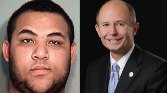 From left: Izaha Akins, 18, is facing felony fraud charges after allegedly posing as Sen. David Burke's replacement