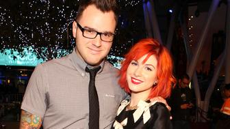 LOS ANGELES, CA - JANUARY 06:  Musician Chad Gilbert of New Found Glory and singer Hayley Williams of Paramore arrive at the People's Choice Awards 2010 held at Nokia Theatre L.A. Live on January 6, 2010 in Los Angeles, California.  (Photo by Christopher Polk/Getty Images for PCA)
