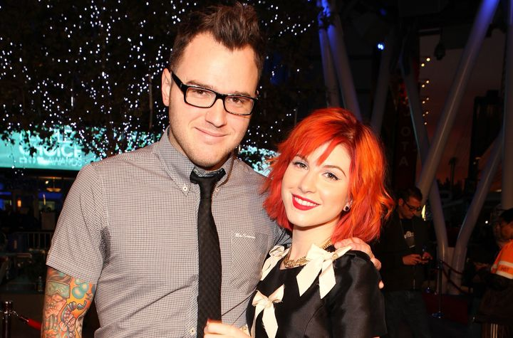 Musician Chad Gilbert of New Found Glory and singer Hayley Williams of Paramore arrive at the People's Choice Awards 2010 hel