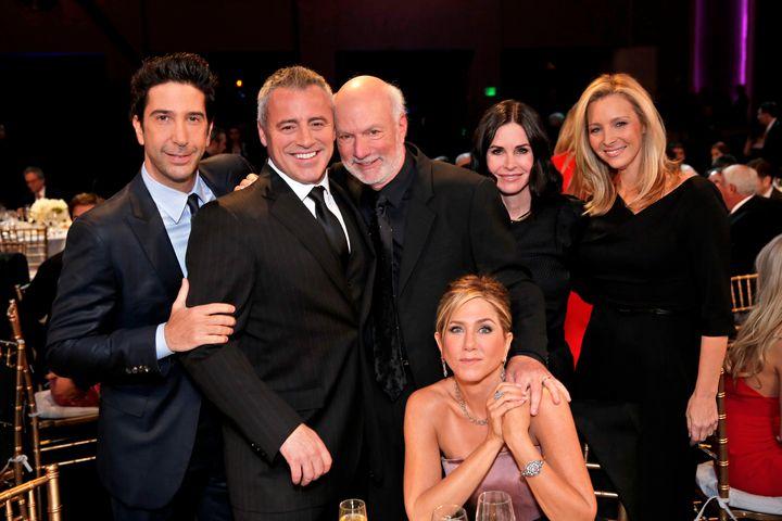 David Schwimmer, Matt LeBlanc, James Burrows, Jennifer Aniston, Courteney Cox, Lisa Kudrow.