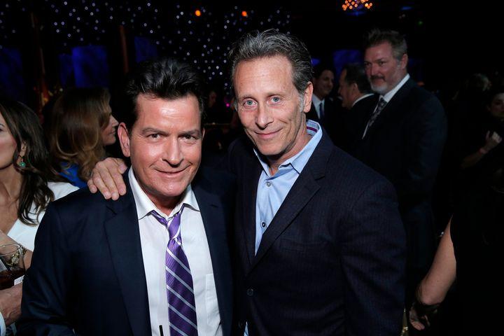 Charlie Sheen and Steven Weber.