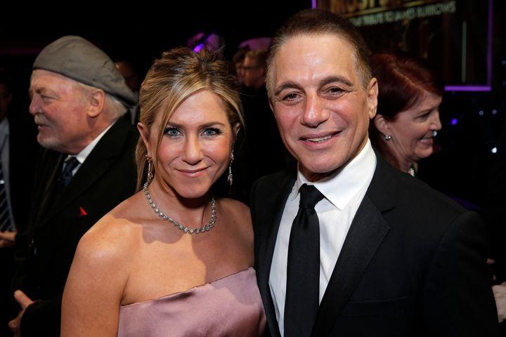Jennifer Aniston and Tony Danza.