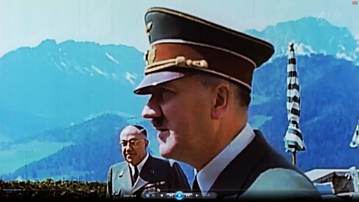 Adolf Hitler, pictured with his personal doctor, Theodor Morell, continues to generate speculation about the size of his