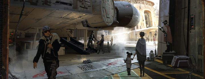 A real-life Millennium Falcon ship will greet visitors at Disney's Star Wars Lands.