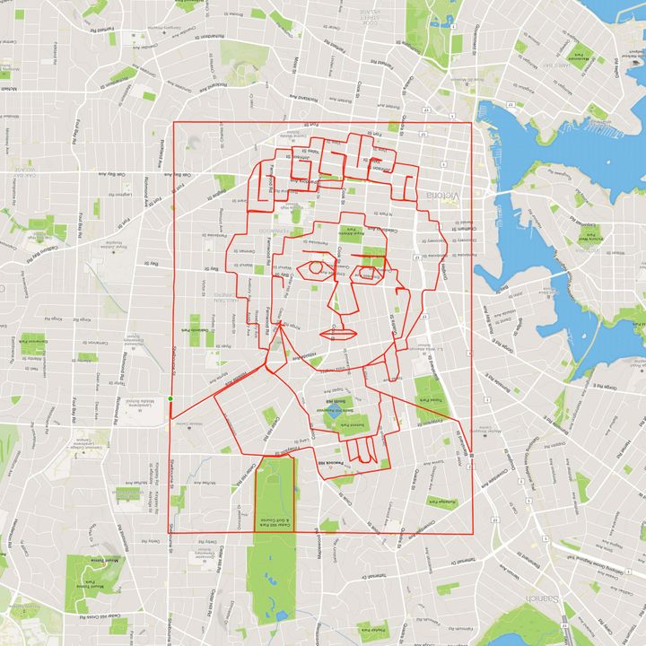 Lund's incredible Queen Elizabeth II doodle.