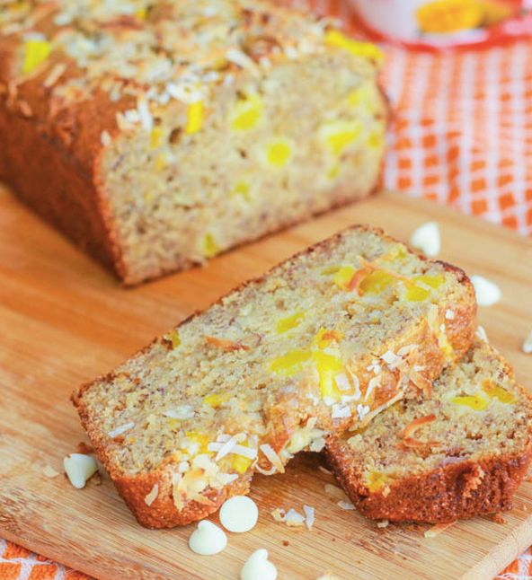 "<strong>Get the <a href=""http://sallysbakingaddiction.com/2012/08/03/white-chocolate-chip-mango-banana-bread/"" target=""_blank"