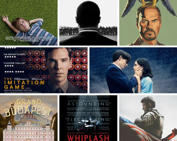 "<strong>Nominees:&nbsp;</strong>""American Sniper,"" ""Birdman,"" ""Boyhood,"" ""The Grand Budapest Hotel,"" ""The Imitation Game,"" ""S"