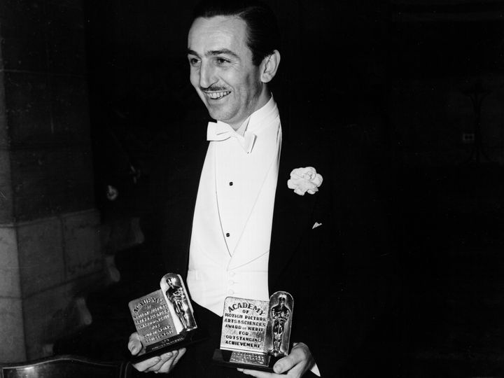 Walt Disney at the 11th Academy Awards, presented on Feb. 23, 1939 at the Biltmore Hotel in Los Angeles, California.