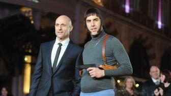 LONDON, ENGLAND - FEBRUARY 22:  Mark Strong and Sacha Baron Cohen attend the World premiere of 'Grimsby' at Odeon Leicester Square on February 22, 2016 in London, England.  (Photo by Dave J Hogan/Getty Images)