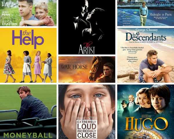 "<strong>Nominees:&nbsp;</strong>""The Artist,"" ""The Descendants,"" ""Extremely Loud and Incredibly Close,"" ""The Help,"" ""Hugo,"" """