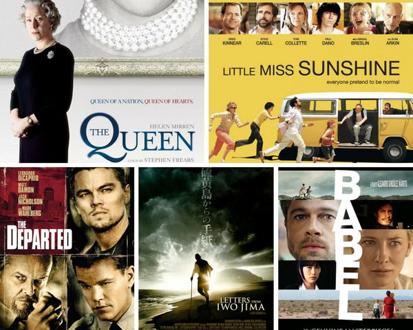 "<strong>Nominees:&nbsp;</strong>""Babel,"" ""The Departed,"" ""Letters from Iwo Jima,"" ""Little Miss Sunshine"" and 'The Queen""<br><"