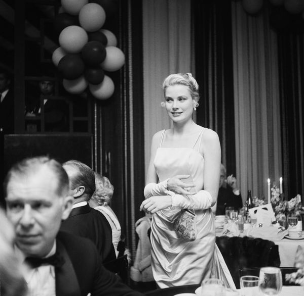 American actress Grace Kelly (1929 - 1982) attends the Academy Awards at the Pantages Theatre in Hollywood, California, March