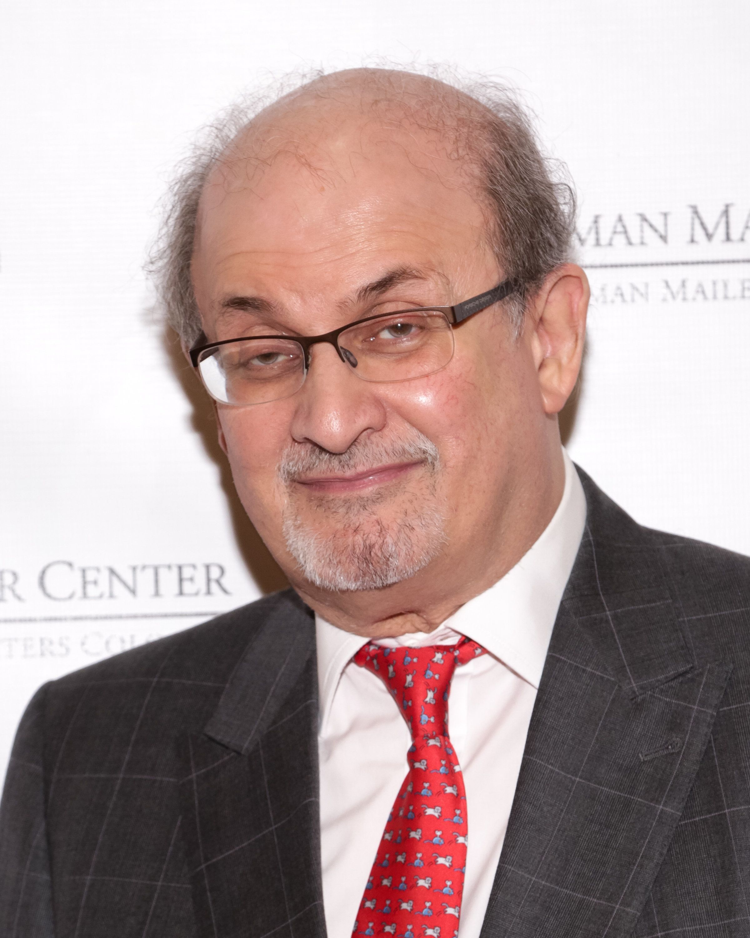 NEW YORK, NY - DECEMBER 10:  Event honoree/writer Salman Rushdie attends the Norman Mailer Center's Lifetime Achievement Award held at Pratt Institute on December 10, 2015 in New York City.  (Photo by Brent N. Clarke/WireImage)