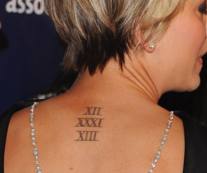 Kaley Cuoco's original ink.