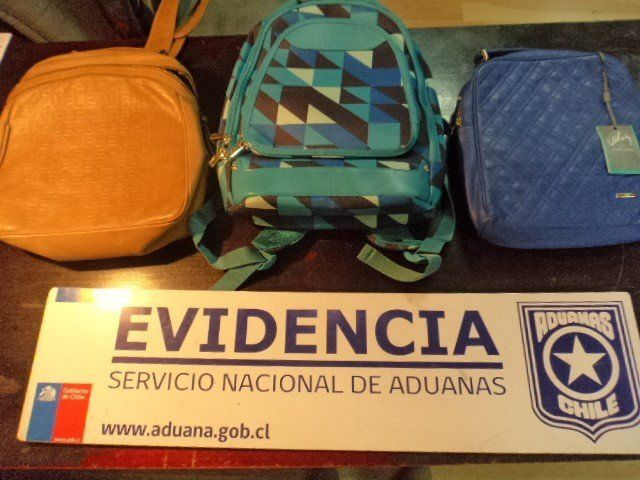 Authorities say they found about a poundof meth inside these three backpacks