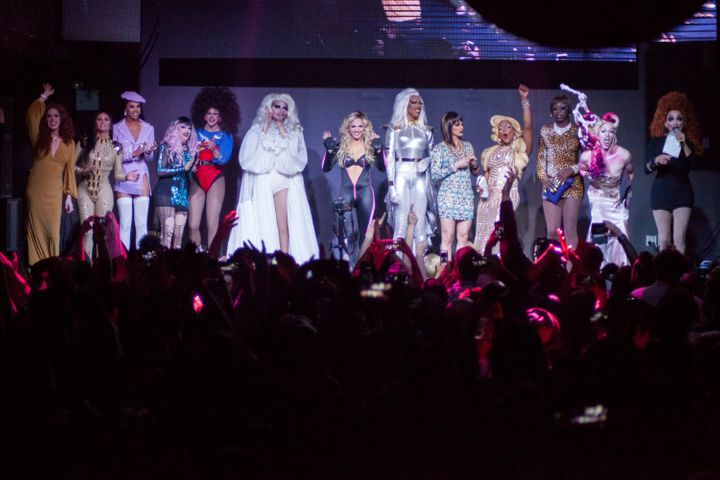 "The cast of ""RuPaul's Drag Race"" took to the stage in New York on Feb. 22."
