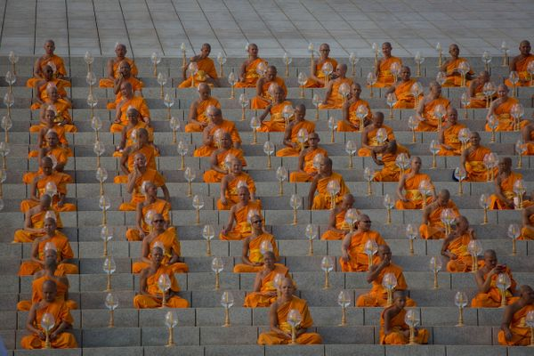 Buddhists Stage Massive Lighting Ceremony At Thai Temple Huffpost