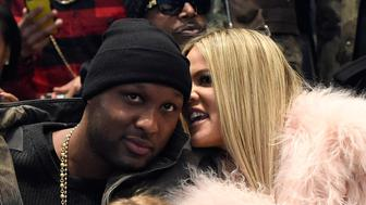 NEW YORK, NY - FEBRUARY 11:  Lamar Odom and Khloe Kardashian attend Kanye West Yeezy Season 3 at Madison Square Garden on February 11, 2016 in New York City.  (Photo by Kevin Mazur/Getty Images for Yeezy Season 3)