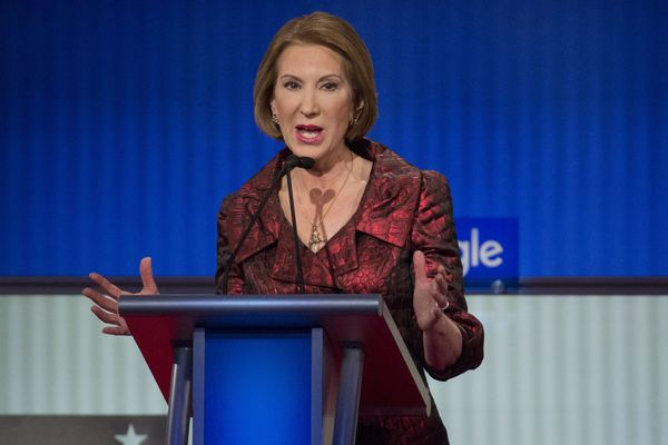 "This presidential race, <a href=""https://carlyforpresident.com/"" target=""_blank"">Carly Fiorina</a>, former chairman and chief"