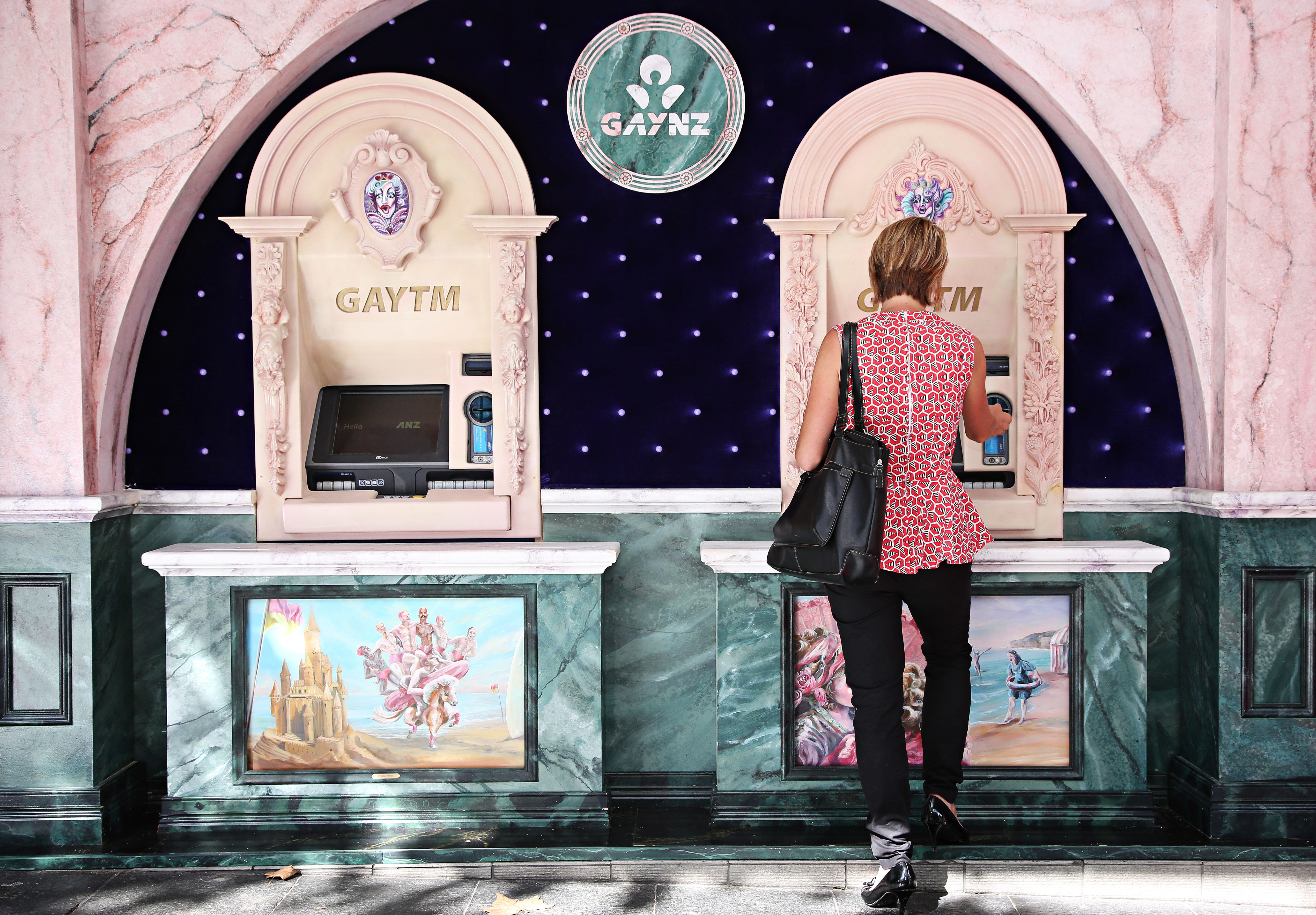 "Australian ANZ banks are coming out as ""GAYNZ"" in honor of the lesbian, gay, bisexual and transgender (LGBT) community.&"