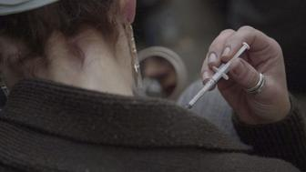 "A scene from the Frontline documentary ""Chasing Heroin."""