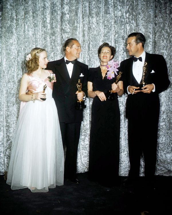 Oscar winners (left to right) Peggy Ann Garner (1932 - 1984), James Dunn (1901 - 1967), Ann Revere (1903 - 1990), and Ray Mil