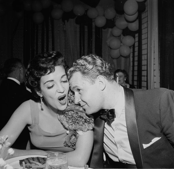 Actor Rod Steiger and actress Katy Jurado attend the Academy Awards in Los Angeles, California, on March 30, 1955.